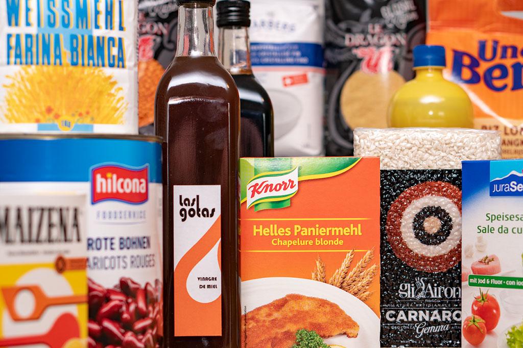 Convenience, Knorr, Hilcona, Maizena, Speisesalz, JuraSel, Paniermehl, Uncle Ben's