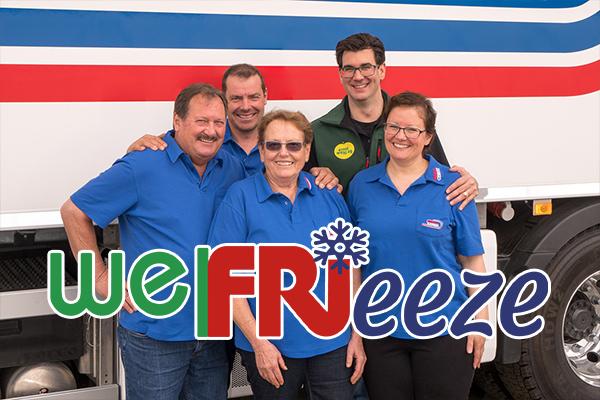 welFRIeeze Geschäftsleitung Friedli Gemüse und Ernst Welti AG steht vor Lastwagen
